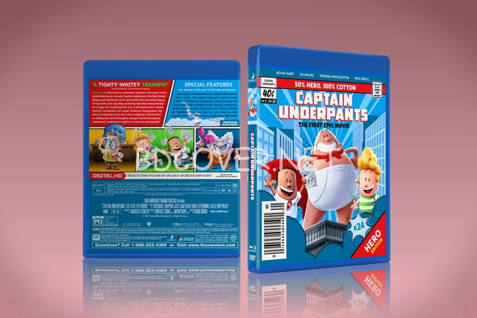 Blu Ray Covers Dvd Covers Blu Ray Labels Captain Underpants The First Epic Movie Blu Ray Cover
