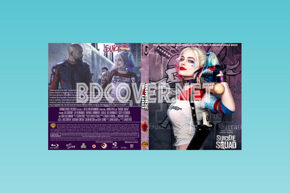 Suicide Squad Blu Ray Covers Blu-ray CUSTOM Covers