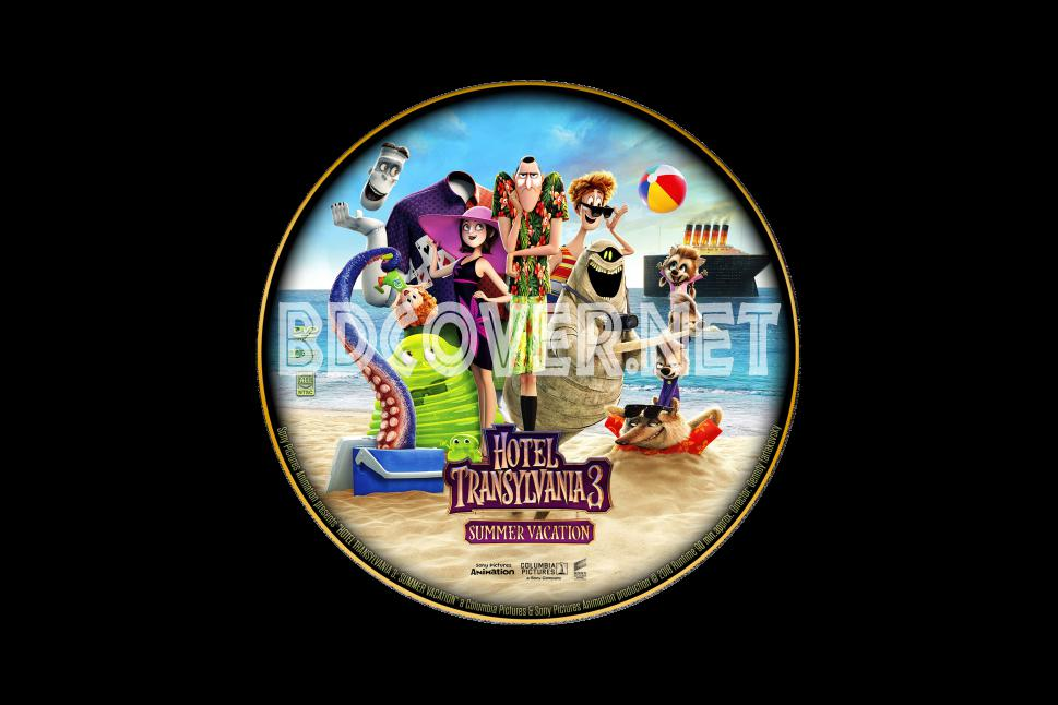 Hotel Transylvania 3 Summer Vacation Dvd Labels DVD CUSTOM