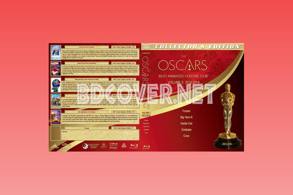 The Oscars: Best Animated Feature Film Volume 3 (2013 2018) Blu Ray Covers
