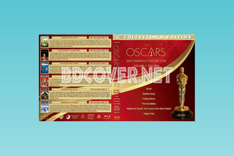 The Oscars: Best Animated Feature Film Volume 1 (2001 2006) Blu Ray Covers