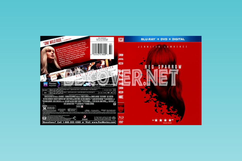Red Sparrow Scanned Covers Blu-ray SCANNED Covers