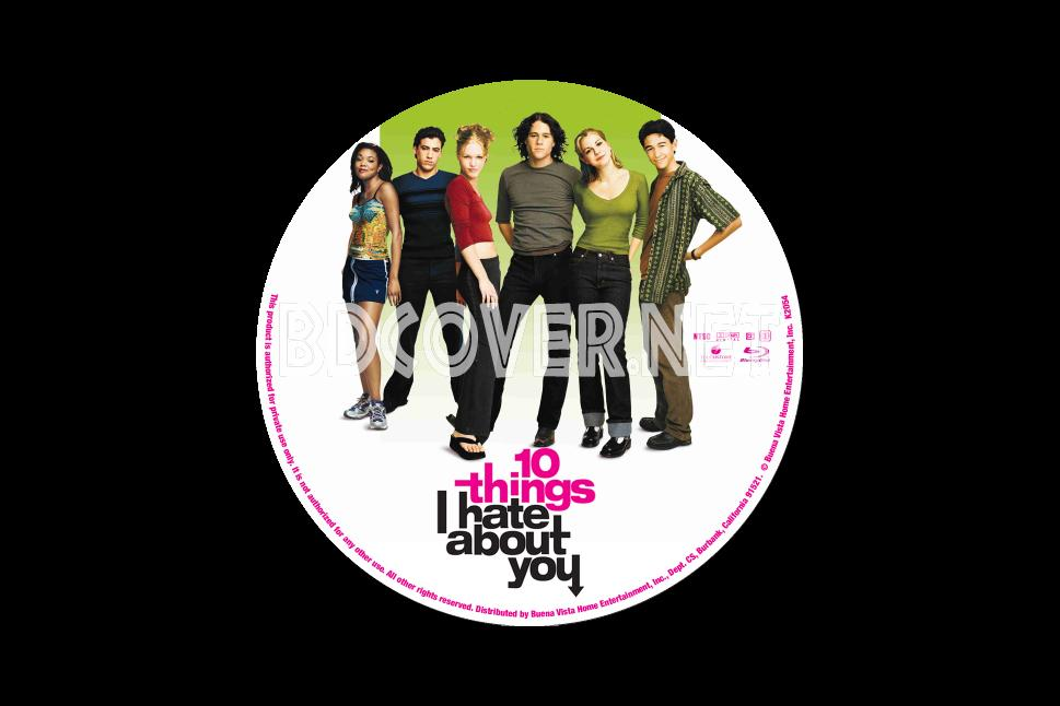 10 Things I Hate About You Cover: Blu-ray Labels