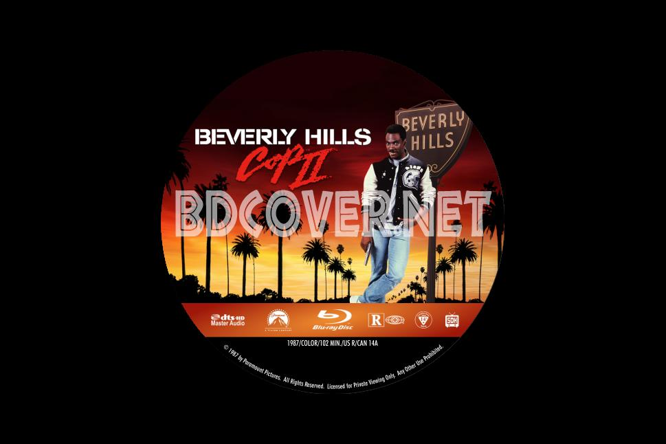 beverly hills cop 2 bluray label � dvdbluray covers