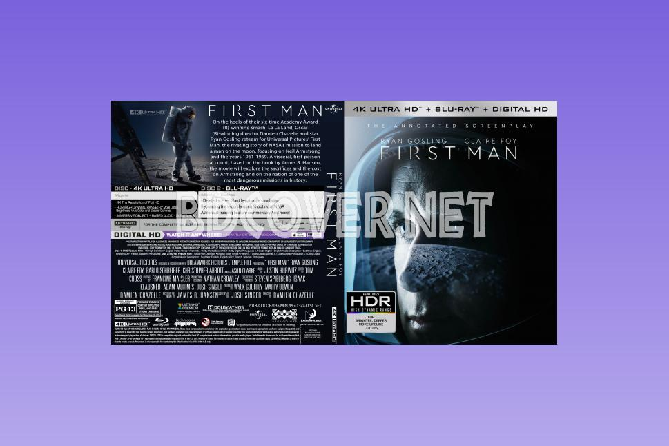 First Man 4k Ultrahd Blu Ray Cover 4k Ultrahd Blu Ray Covers