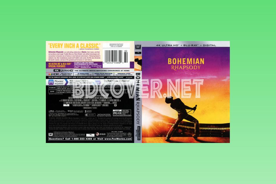Bohemian Rhapsody 4k Ultrahd Blu Ray Cover 4k Ultrahd Blu Ray Covers