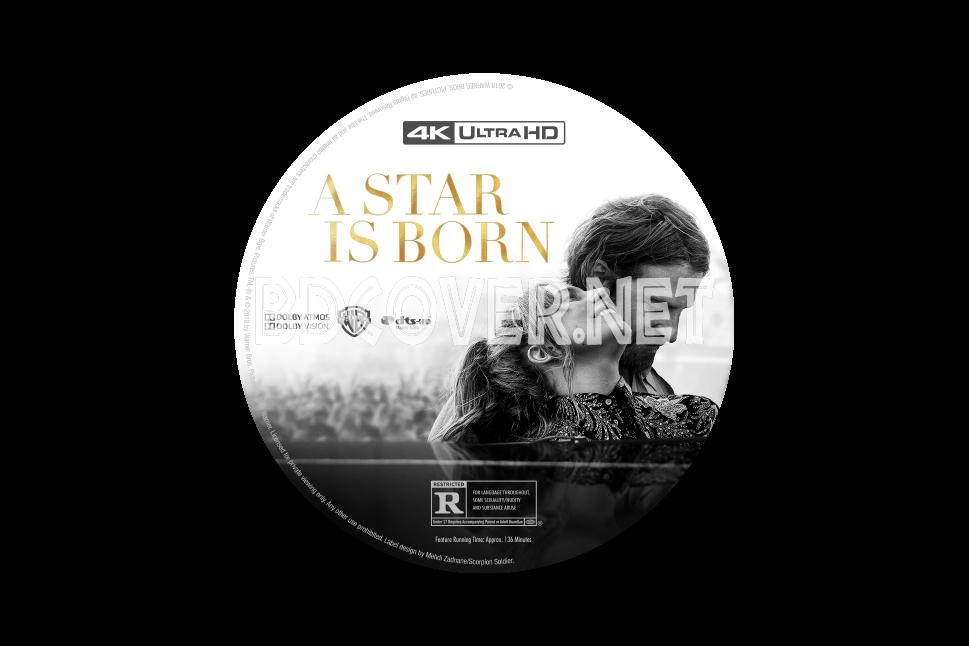 A Star Is Born 4k Ultrahd Blu Ray Label 4k Ultrahd Blu Ray Labels