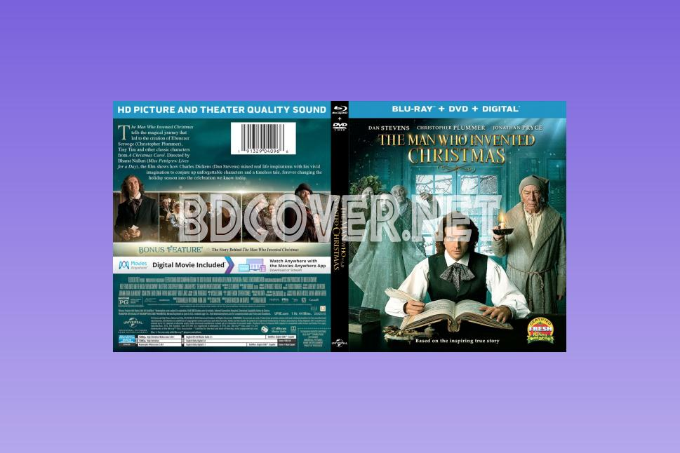 The Man Who Invented Christmas Dvd.4k Ultrahd Blu Ray Covers Blu Ray Labels Dvd Covers