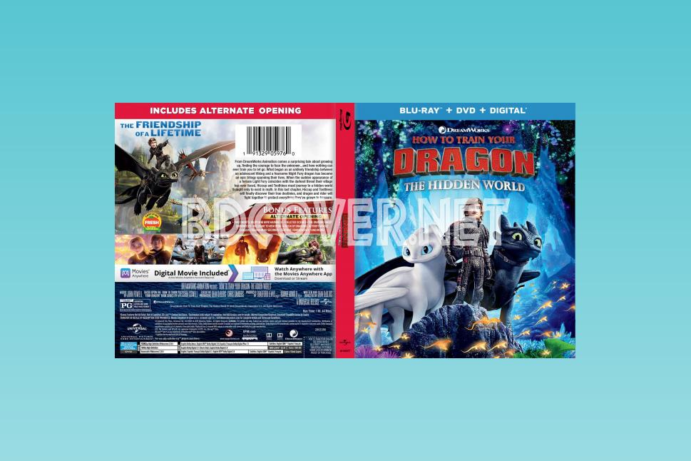 How To Train Your Dragon The Hidden World (2019) Blu Ray Cover Blu Ray Cover