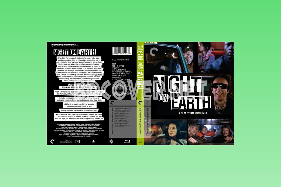 Night On Earth (1991) Blu Ray Cover Blu Ray Cover