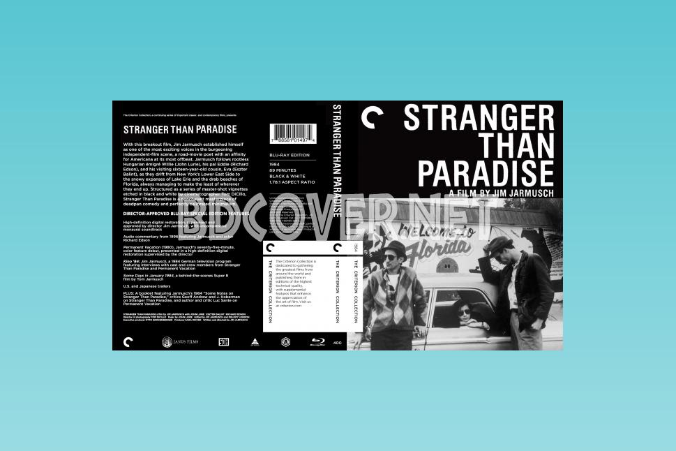 Stranger Than Paradise (1984) Blu Ray Cover Blu Ray Cover