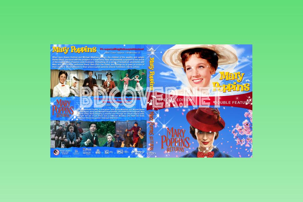 Mary Poppins V2 Blu Ray Cover Blu Ray Cover