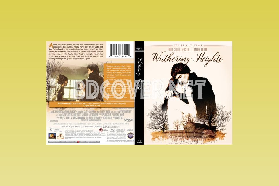Wuthering Heights (1970) Blu Ray Cover Blu Ray Cover