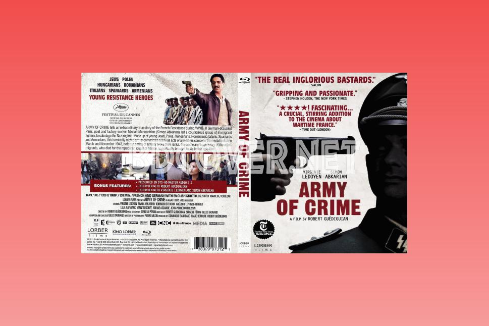 The Army Of Crime (2009) Blu Ray Cover Blu Ray Cover