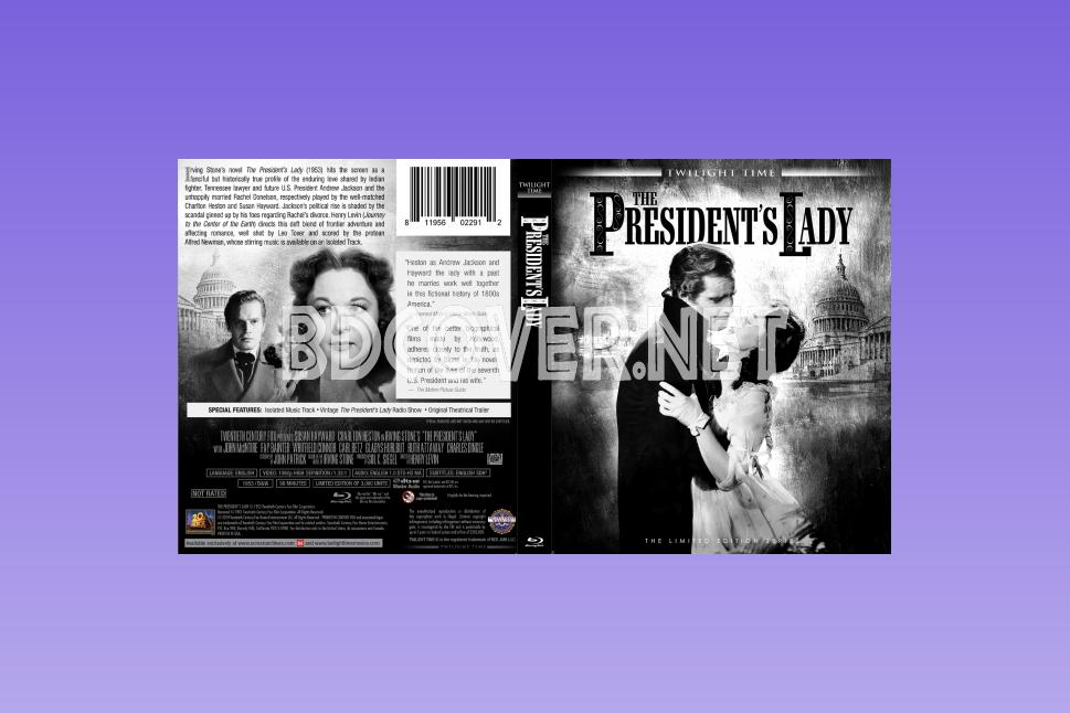 The President's Lady (1953) Blu Ray Cover Blu Ray Cover