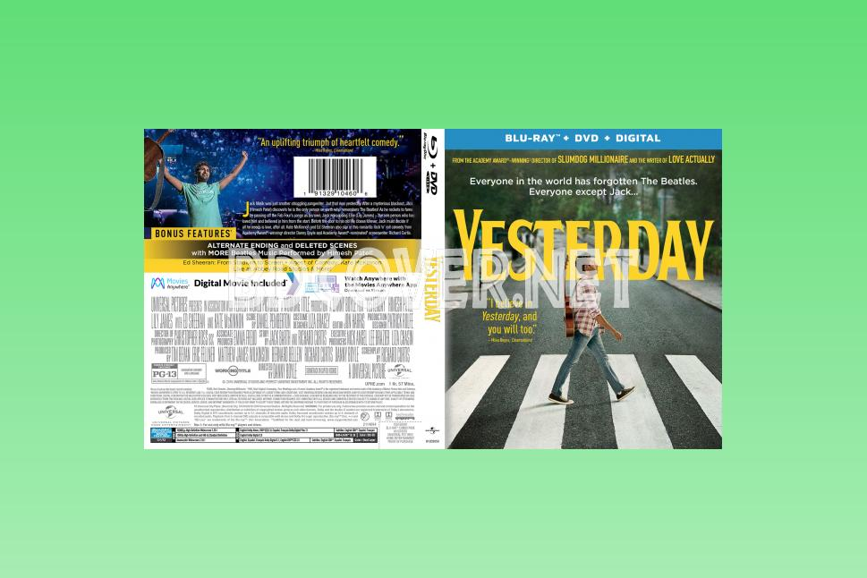 Yesterday (2019) Blu Ray Cover Blu Ray Cover