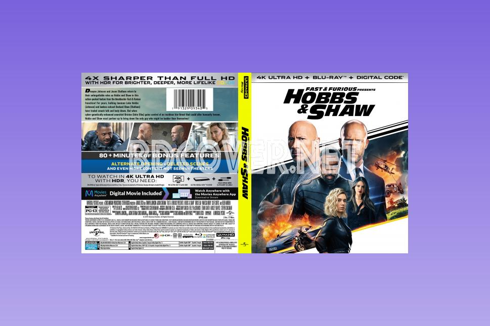 Fast & Furious Presents Hobbs & Shaw (2019) 4k Ultrahd Blu Ray Cover 4k Ultrahd Blu Ray Covers