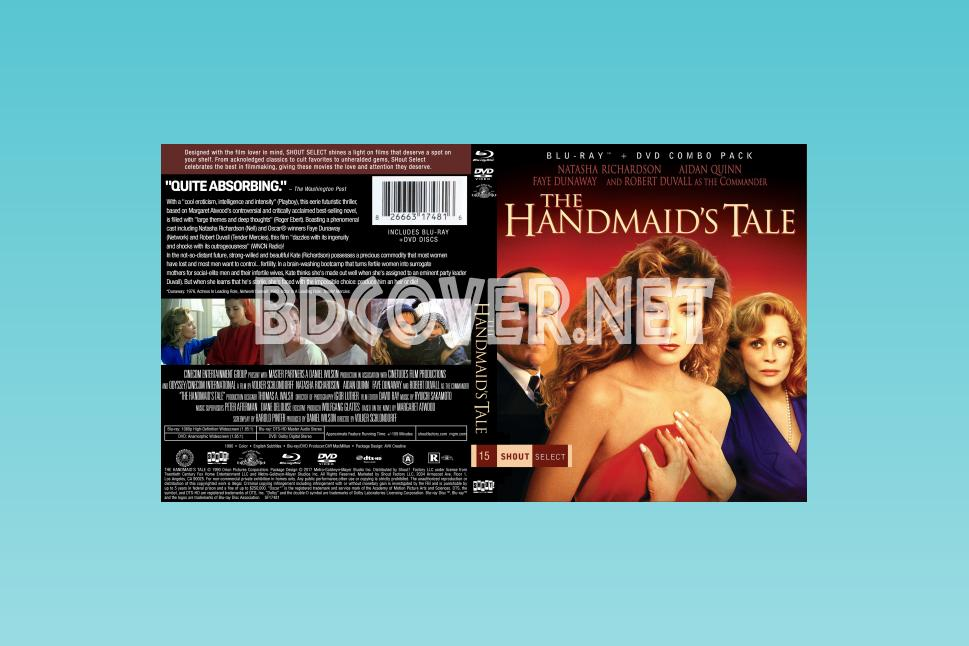 The Handmaid's Tale (1990) Blu Ray Cover Blu Ray Cover