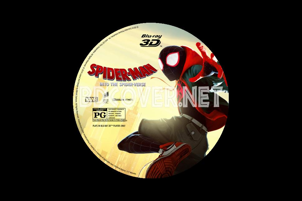 Spider Man Into The Spider Verse 3d Blu Ray Label Blu Ray Labels