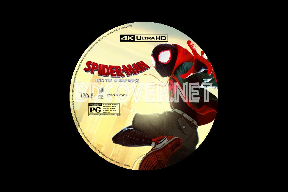 Spider Man Into The Spider Verse 4k 4k Ultrahd Blu Ray Label 4k Ultrahd Blu Ray Labels