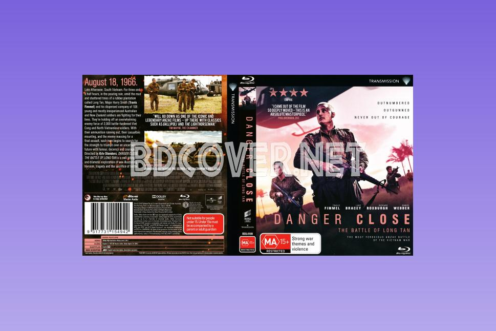 Danger Close (2019) Scanned Blu Ray Cover Blu Ray Cover
