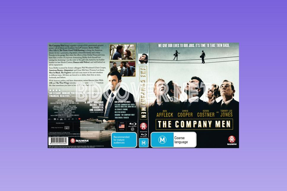 The Company Men (2010) Scanned Blu Ray Cover Blu Ray Cover
