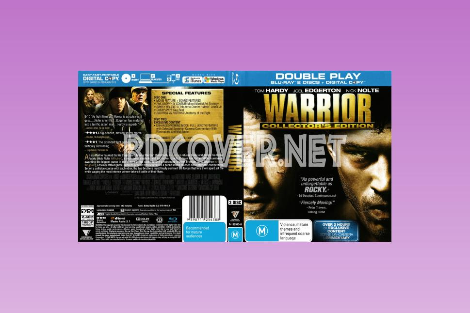 Warrior (2011) Scanned Blu Ray Cover Blu Ray Cover