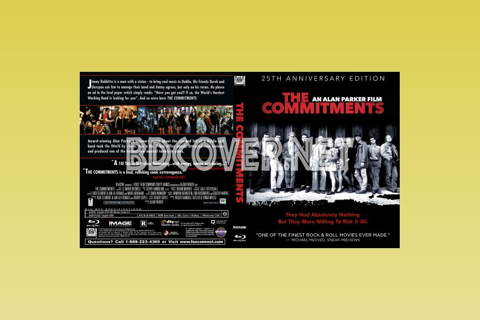The Commitments (1991) Blu Ray Cover Blu Ray Cover