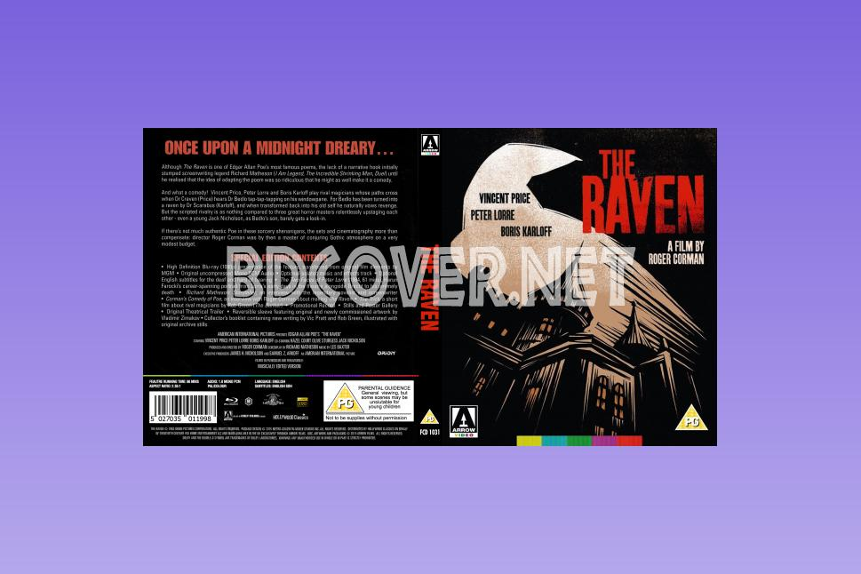 The Raven (1963) Blu Ray Cover Blu Ray Cover