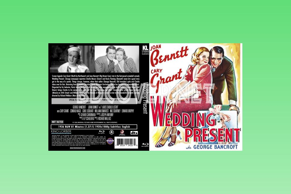 Wedding Present (1936) Blu Ray Cover Blu Ray Cover
