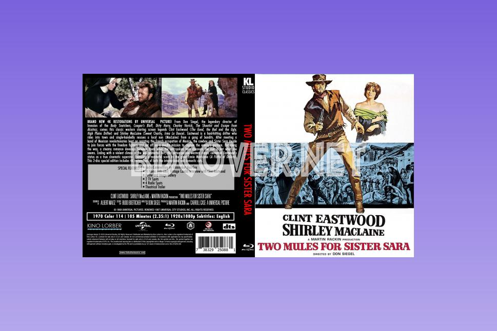 Two Mules For Sister Sara (1970) Blu Ray Cover Blu Ray Cover