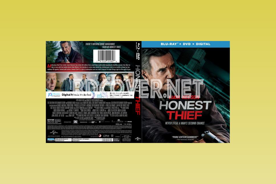Honest Thief (2020) Blu Ray Cover Blu Ray Cover