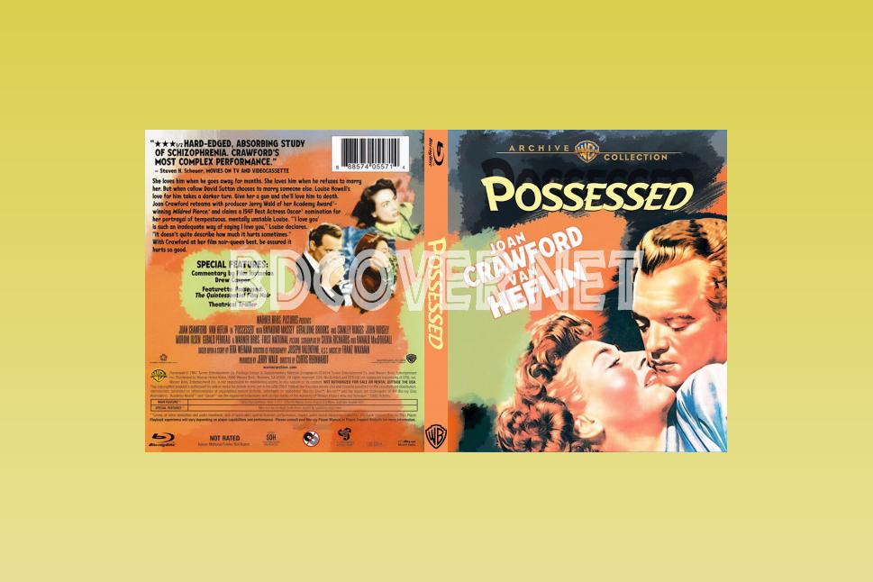Possessed (1947) Blu Ray Cover Blu Ray Cover