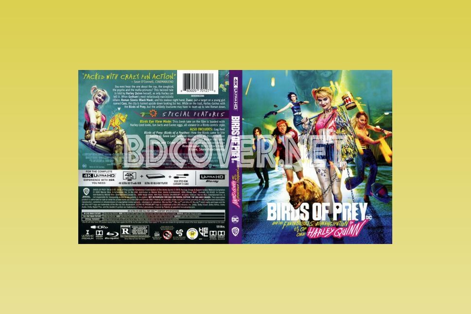 Birds Of Prey Harley Quinn 4k Ultrahd Blu Ray Cover 4k Ultrahd Blu Ray Covers